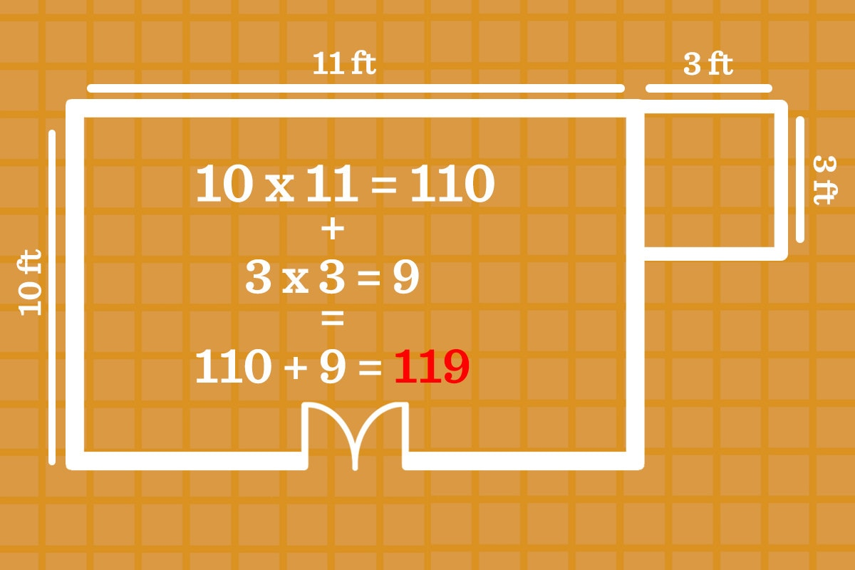 the final step for calculating square feet