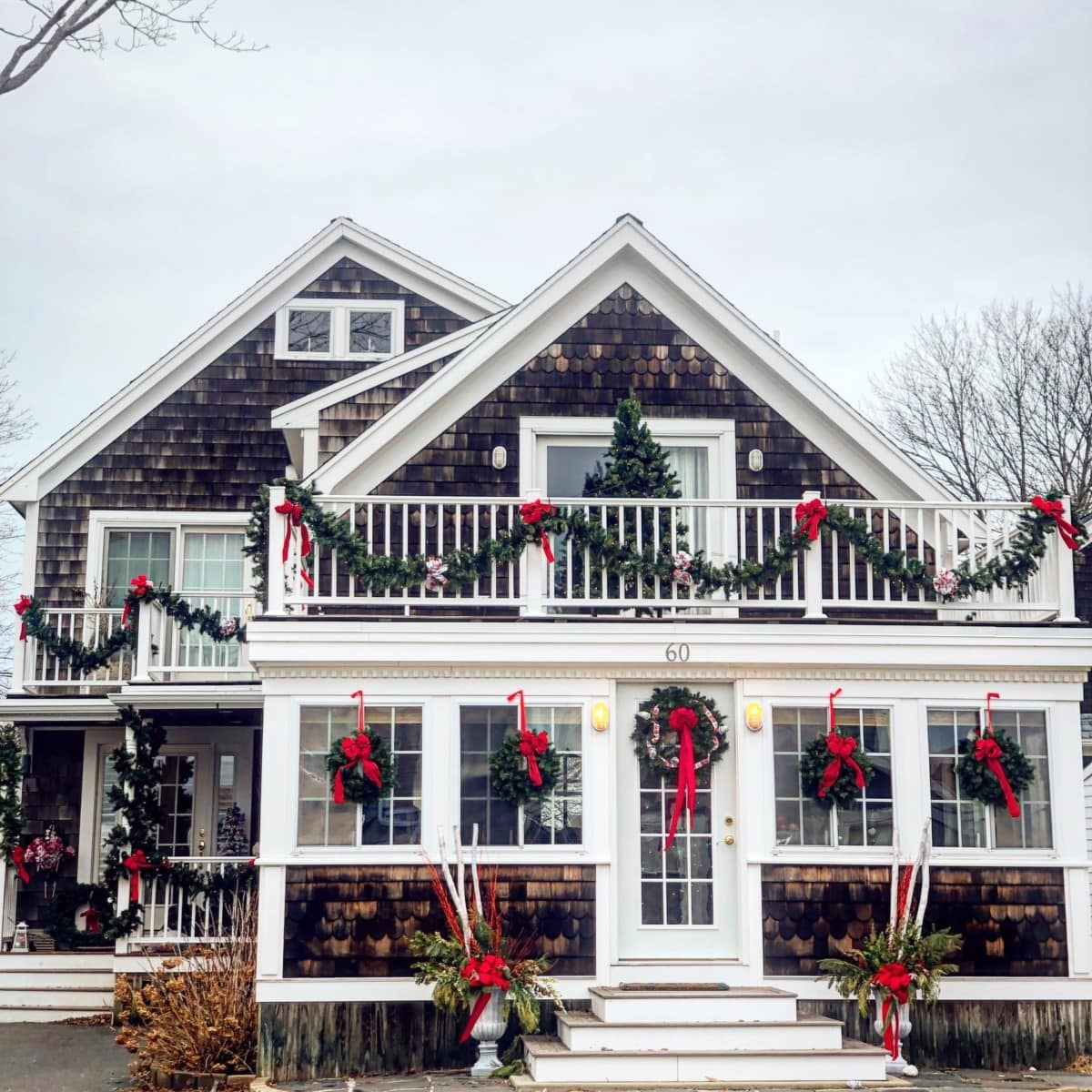 Be sure to decorate the exterior of your home if you're selling during the holidays